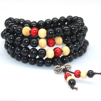 108 Rosewood Prayer Mala Beads Bracelet color 18