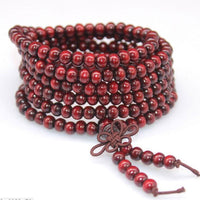 108 Rosewood Prayer Mala Beads Bracelet color 19