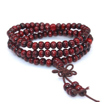 108 Rosewood Prayer Mala Beads Bracelet color 2