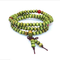 108 Rosewood Prayer Mala Beads Bracelet color 7