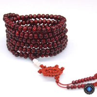 108 Rosewood Prayer Mala Beads Bracelet color 8
