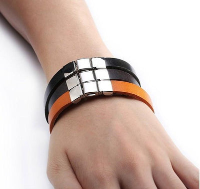 3 Buckle Genuine Leather Belt Bracelet Bracelets