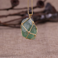 Dream Crystal Green Fluorite Rope Necklace