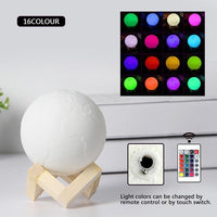 3D Earth Lamp 16 Colors w/ Remote / 10cm 3D Lights