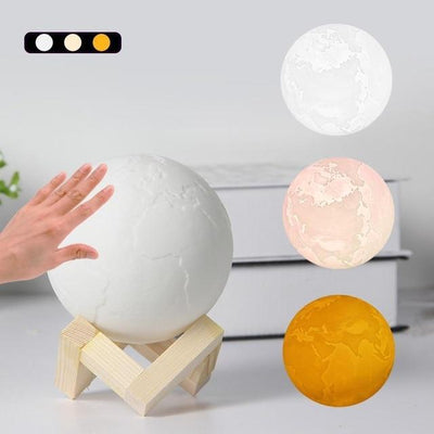 3D Earth Lamp 3 Color / 10cm 3D Lights