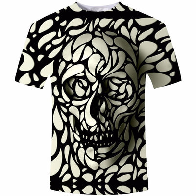 3D Illusion Skull Shirt Shirts