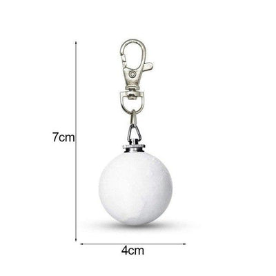 3D Moon Lamp Keychain White / Lobster Hook / 0-5W Keychains