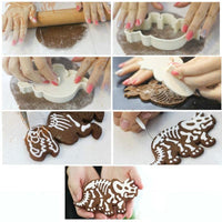 3pc Dinosaur Cookie Cutter Mold Set Costume