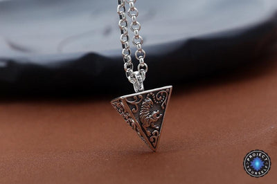 4 Legendary Animals Sterling Silver Pyramid Pendant pendant
