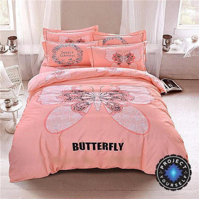 4-Piece Mandala Bedding Sets Butterfly / Queen Bed Sheets