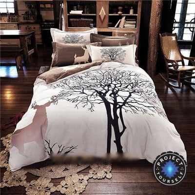 4-Piece Mandala Bedding Sets Tree / Queen Bed Sheets