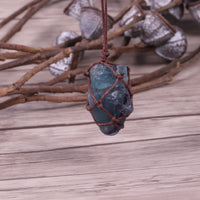 Dream Crystal Blue Fluorite Rope Necklace