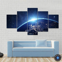 5 Panel Dawn of A New Light Canvas Painting Painting