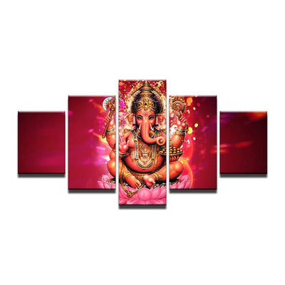 5 Panel Lord Ganesha Awakening Painting Painting