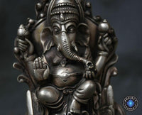 6 Inch Antique Silver Lord Ganesha Statue Statues