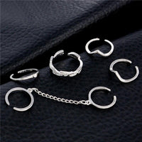 6-Piece Stackable Ring Set Silver Rings