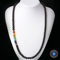 7 Chakra Black Agate Beads Necklaces Style 1 Chakra Necklace