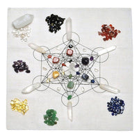 7 Chakra Metatrons Cube Crystal Grid Kit Crystals