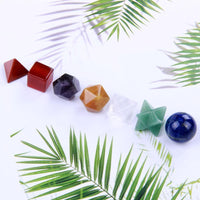 7 Chakra Platonic Solids Sacred Geometry Set Decor
