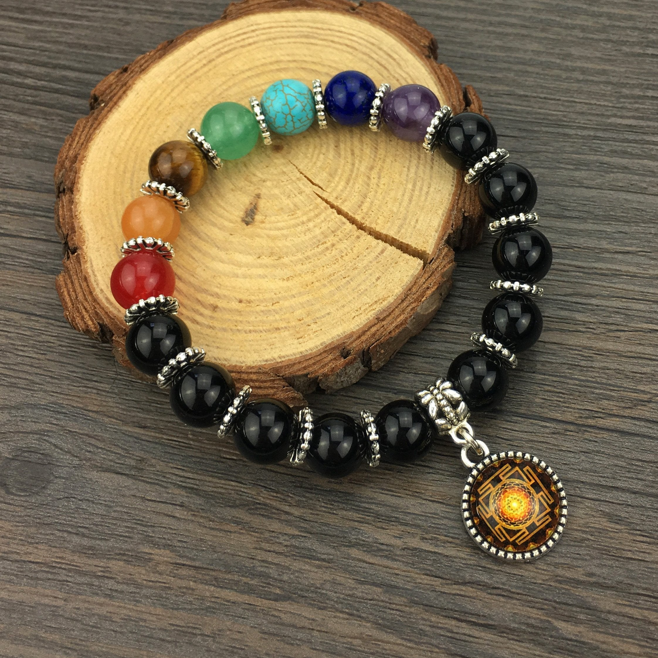7 Chakra Sacred Sri Yantra Charm Bracelet Project Yourself