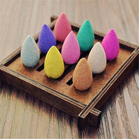 70pcs Aromatic Bullet Head Backflow Incense Cones for Backflow Burner Incense