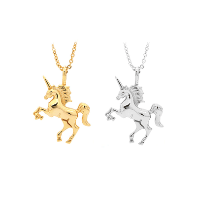 925 Sterling Silver Unicorn Necklace Necklace