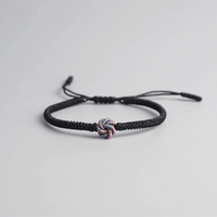Lucky Auric Circle Handmade Buddhist Knots Rope Bracelet