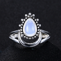 Moon Dew Moonstone Ring