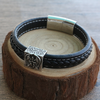 Archangel Michael Genuine Leather Bracelet
