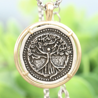 Tree of Life Ancient Medallion Necklace