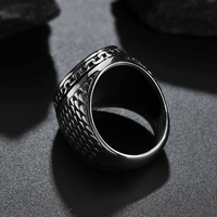 The Lords Soldier Stainless Steel Signet Ring