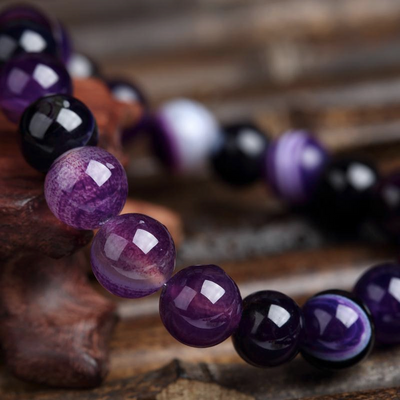 Purple Agate Power Bracelet