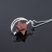 Natural Stone Merkaba Meditation Necklace