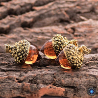 Acorn Water Drop Pendant Necklace Gold Plated Necklace