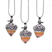 Acorn Water Drop Pendant Necklace Necklace
