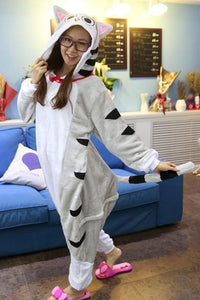 Adults Cartoon Animal Pajama Body Suits Cheese cat / S Costume