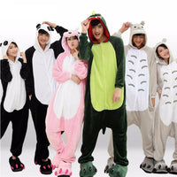 Adults Cartoon Animal Pajama Body Suits Costume