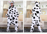 Adults Cartoon Animal Pajama Body Suits Cow / S Costume