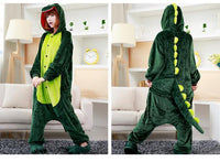 Adults Cartoon Animal Pajama Body Suits Dinosaur / S Costume