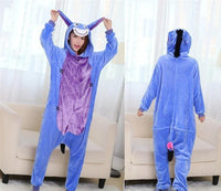 Adults Cartoon Animal Pajama Body Suits Eeyore / S Costume