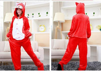 Adults Cartoon Animal Pajama Body Suits Fox / S Costume