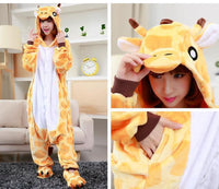 Adults Cartoon Animal Pajama Body Suits Giraffe / S Costume