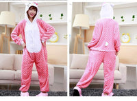 Adults Cartoon Animal Pajama Body Suits Hello Kitty / S Costume