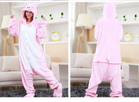 Adults Cartoon Animal Pajama Body Suits Pig / S Costume