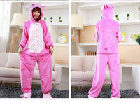 Adults Cartoon Animal Pajama Body Suits Stitch Pink / S Costume