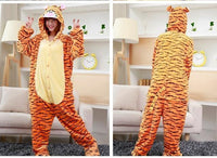 Adults Cartoon Animal Pajama Body Suits Tigger / S Costume