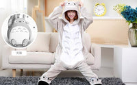 Adults Cartoon Animal Pajama Body Suits Totoro / S Costume