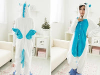 Adults Cartoon Animal Pajama Body Suits Unicorn Blue / S Costume