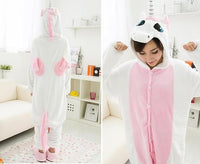 Adults Cartoon Animal Pajama Body Suits Unicorn Pink / S Costume