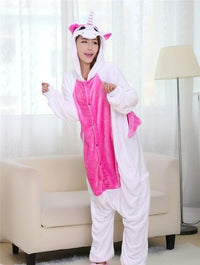 Adults Cartoon Animal Pajama Body Suits Unicorn Rose / S Costume